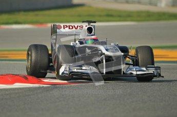 World © Octane Photographic 2011. Formula 1 testing Thursday 10th March 2011 Circuit de Catalunya. Williams FW33 - Rubens Barrichello. Digital ref : 0023cb1d2940