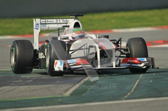 World © Octane Photographic 2011. Formula 1 testing Thursday 10th March 2011 Circuit de Catalunya. Sauber C30 - Sergio Perez. Digital ref : 0023cb1d2989