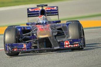 World © Octane Photographic 2011. Formula 1 testing Thursday 10th March 2011 Circuit de Catalunya. Toro Rosso STR6 - Jamie Alguersuari. Digital ref : 0023CB1D3059