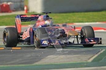 World © Octane Photographic 2011. Formula 1 testing Thursday 10th March 2011 Circuit de Catalunya. Toro Rosso STR6 - Jamie Alguersuari. Digital ref : 0023CB1D3081
