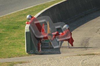 World © Octane Photographic 2011. Formula 1 testing Thursday 10th March 2011 Circuit de Catalunya. Marshalls. Digital ref : 0023CB1D3189
