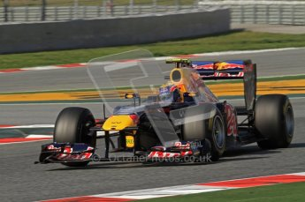World © Octane Photographic 2011. Formula 1 testing Thursday 10th March 2011 Circuit de Catalunya. Red Bull RB7 - Mark Webber. Digital ref : 0023LW7D1239