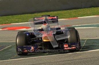 World © Octane Photographic 2011. Formula 1 testing Thursday 10th March 2011 Circuit de Catalunya. Toro Rosso STR6 - Jamie Alguersuari. Digital ref : 0023LW7D1426