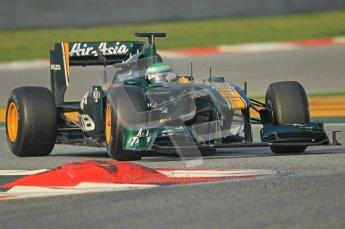 World © Octane Photographic 2011. Formula 1 testing Friday 11th March 2011 Circuit de Catalunya. Lotus T124 - Heikki Kovalainen. Digital ref : 0022CB1D3367