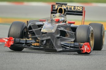 World © Octane Photographic 2011. Formula 1 testing Friday 11th March 2011 Circuit de Catalunya. Renault R31 - Nick Heidfeld. Digital ref : 0022CB1D3477