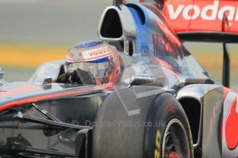 World © Octane Photographic 2011. Formula 1 testing Friday 11th March 2011 Circuit de Catalunya. McLaren MP4/26 - Jenson Button. Digital ref : 0022CB1D3524