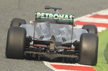 World © Octane Photographic 2011. Formula 1 testing Friday 11th March 2011 Circuit de Catalunya. Mercedes MGP W02 - Michael Schumacher. Digital ref : 0022CB1D3695