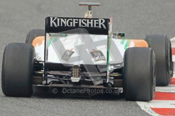 World © Octane Photographic 2011. Formula 1 testing Friday 11th March 2011 Circuit de Catalunya. Force India VJM04 - Adrian Sutil. Digital ref : 0022CB1D3799