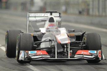 World © Octane Photographic 2011. Formula 1 testing Friday 11th March 2011 Circuit de Catalunya. Sauber C30 - Kamui Kobayashi. Digital ref : 0022CB1D3849