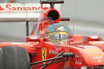 World © Octane Photographic 2011. Formula 1 testing Friday 11th March 2011 Circuit de Catalunya. Ferrari 150° Italia - Fernando Alonso. Digital ref : 0022CB1D3885