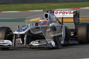 World © Octane Photographic 2011. Formula 1 testing Friday 11th March 2011 Circuit de Catalunya. Williams FW33 - Rubens Barrichello. Digital ref : 0022LW7D1869