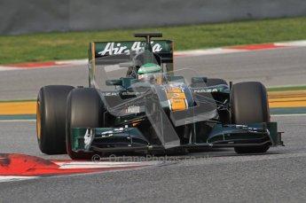 World © Octane Photographic 2011. Formula 1 testing Friday 11th March 2011 Circuit de Catalunya. Lotus T124 - Heikki Kovalainen. Digital ref : 0022LW7D2021