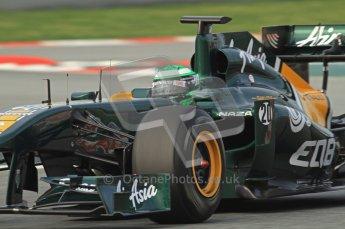 World © Octane Photographic 2011. Formula 1 testing Friday 11th March 2011 Circuit de Catalunya. Lotus T124 - Heikki Kovalainen. Digital ref : 0022LW7D2025