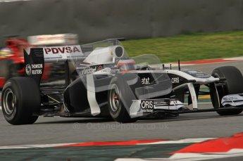 World © Octane Photographic 2011. Formula 1 testing Friday 11th March 2011 Circuit de Catalunya. Williams FW33 - Rubens Barrichello. Digital ref : 0022LW7D2530