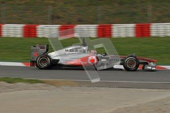 World © Octane Photographic 2011. Formula 1 testing Friday 11th March 2011 Circuit de Catalunya. McLaren MP4/26 - Jenson Button. Digital ref : 0022LW7D2781