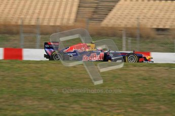 World © Octane Photographic 2011. Formula 1 testing Tuesday 8th March 2011 Circuit de Catalunya. Red Bull RB7 - Mark Webber. Digital ref : 0017LW7D6874