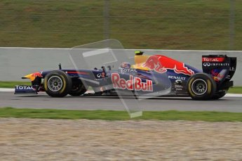 World © Octane Photographic 2011. Formula 1 testing Tuesday 8th March 2011 Circuit de Catalunya. Red Bull RB7 - Mark Webber. Digital ref : 0017LW7D7718