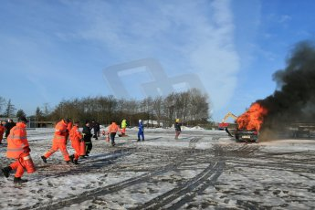 World © Octane Photographic Ltd. BMMC trainee marshals' fire training day, Donington Park. 26th January 2013. Digital Ref : 0568lw1d6994