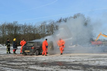 World © Octane Photographic Ltd. BMMC trainee marshals' fire training day, Donington Park. 26th January 2013. Digital Ref : 0568lw1d7118