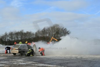 World © Octane Photographic Ltd. BMMC trainee marshals' fire training day, Donington Park. 26th January 2013. Digital Ref : 0568lw1d7313