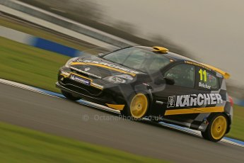 World © Octane Photographic Ltd. Donington Park Un-silenced general test day Friday 15th February 2013. Renault Clio Cup. Simon Belcher - Handy Motorsport with Pyro. Digital Ref : 0575cb1d0329