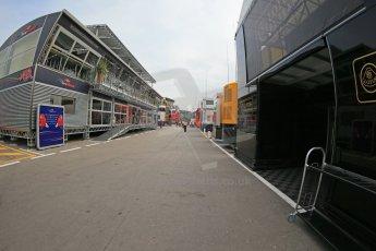 World © Octane Photographic Ltd. F1 Spanish GP Thursday 9th May 2013. Paddock. Digital Ref : 0654cb1d8003