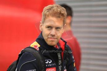 World © Octane Photographic Ltd. F1 Spanish GP Thursday 9th May 2013. Paddock and pitlane. Infiniti Red Bull Racing - Sebastian Vettel. Digital Ref : 0654cb7d8403