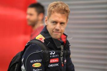 World © Octane Photographic Ltd. F1 Spanish GP Thursday 9th May 2013. Paddock and pitlane. Infiniti Red Bull Racing - Sebastian Vettel. Digital Ref : 0654cb7d8404