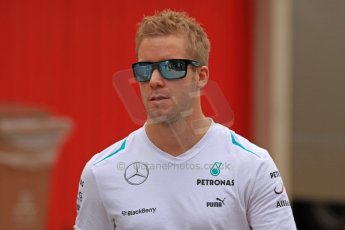 World © Octane Photographic Ltd. F1 Spanish GP Thursday 9th May 2013. Mercedes AMG Petronas - Sam Bird. Paddock and pitlane. Digital Ref : 0654cb7d8531