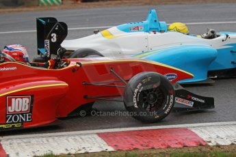World © Octane Photographic Ltd. Brands Hatch, Race 3, Sunday 24th November 2013. BRDC Formula 4 Winter Series, MSV F4-13, Frederick Johansen – Chris Dittmann Racing (CDR) and Malgosia Rdest – Douglas Motorsport. Digital Ref : 0867cb1d7770