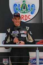 World © Octane Photographic Ltd. Brands Hatch, Race 3 Podium, Sunday 24th November 2013. BRDC Formula 4 Winter Series, MSV F4-13, – Kieran Vernon (2nd) - Hillspeed. Digital Ref : 0867lw1d7591