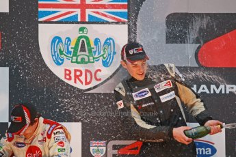 World © Octane Photographic Ltd. Brands Hatch, Race 4 Podium, Sunday 24th November 2013. BRDC Formula 4 Winter Series, MSV F4-13,  – Kieran Vernon (1st) - Hillspeed. Digital Ref : 0868cb1d8036