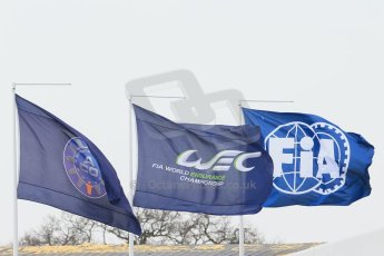 World © Octane Photographic Ltd. FIA World Endurance Championship (WEC), 6 Hours of Silverstone Free Practice 1, UK, Friday 10th April 2015. FIA, WEC and ACO flags. Digital Ref : 1220LB1D6754
