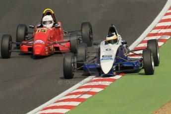 World © Octane Photographic Ltd. British Formula Ford – Brands Hatch, September 2nd 2011. Fluid Motorsport - Matt Rao and Cliff Dempsey Racing - Cavan Corcoran. Digital Ref : 0875cb1d1637