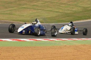 World © Octane Photographic Ltd. British Formula Ford – Brands Hatch, September 2nd 2011. Fluid Motorsport - Matt Rao and JTR - Geoff Uhrhane. Digital Ref : 0875cb7d1575