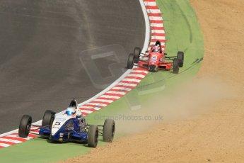 World © Octane Photographic Ltd. British Formula Ford – Brands Hatch, September 2nd 2011. Fluid Motorsport - Matt Parry and Jamun Racing - Scott Malvern. Digital Ref : 0875cb7d1576