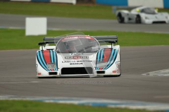 © Octane Photographic Ltd. 2012 Donington Historic Festival. Group C sportscars, qualifying. Lancia LC2 - Rupert Clevely. Digital Ref : 0320cb1d8683