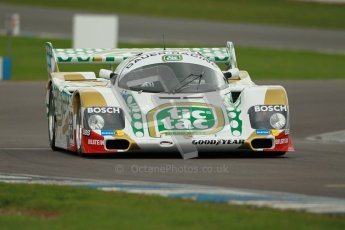 © Octane Photographic Ltd. 2012 Donington Historic Festival. Group C sportscars, qualifying. Porsche 962C - Henrik Lindberg. Digital Ref : 0320cb1d8702
