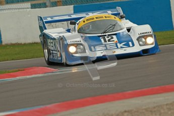 © Octane Photographic Ltd. 2012 Donington Historic Festival. Group C sportscars, qualifying. Porsche 956 - Russel Kempnich. Digital Ref : 0320cb1d8787