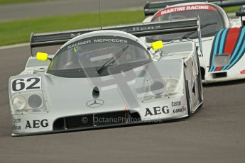 © Octane Photographic Ltd. 2012 Donington Historic Festival. Group C sportscars, qualifying. Sauber C9 - Gareth Evans. Digital Ref : 0320cb1d8830