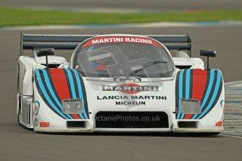 © Octane Photographic Ltd. 2012 Donington Historic Festival. Group C sportscars, qualifying. Lancia LC2 - Rupert Clevely. Digital Ref : 0320cb1d8879