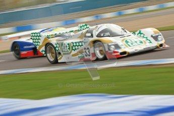 © Octane Photographic Ltd. 2012 Donington Historic Festival. Group C sportscars, qualifying. Porsche 962C - Henrik Lindberg. Digital Ref : 0320cb7d0282