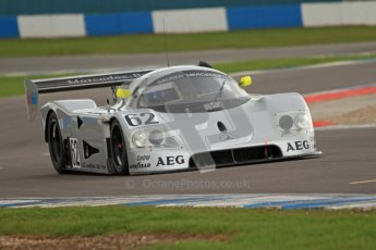 © Octane Photographic Ltd. 2012 Donington Historic Festival. Group C sportscars, qualifying. Sauber C9 - Gareth Evans. Digital Ref : 0320cb7d0290