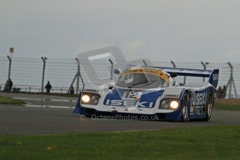 © Octane Photographic Ltd. 2012 Donington Historic Festival. Group C sportscars, qualifying. Porsche 956 - Russel Kempnich. Digital Ref : 0320lw7d9667