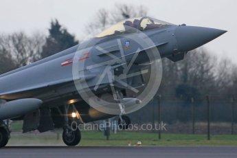 World © Octane Photographic Ltd. January 12th 2016 RAF Coningsby. Eurofighter Typhoon. Digital Ref :