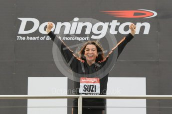 World © Octane Photographic Ltd. 5th February 2016 – Donington Park Racetrack. Suzi Perry launches the 2016 Donington Park Summer Running Festival. Digital Ref : 1500CB1D0312