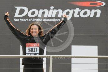 World © Octane Photographic Ltd. 5th February 2016 – Donington Park Racetrack. Suzi Perry launches the 2016 Donington Park Summer Running Festival. Digital Ref : 1500CB1D0366