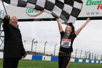 World © Octane Photographic Ltd. 5th February 2016 – Donington Park Racetrack. Suzi Perry and Brendan Foster launch the 2016 Donington Park Summer Running Festival. Digital Ref : 1500CB7D6060