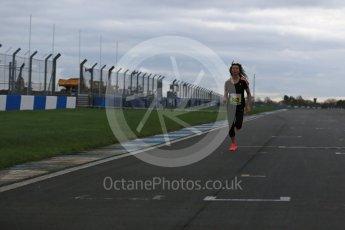 World © Octane Photographic Ltd. 5th February 2016 – Donington Park Racetrack. Suzi Perry launches the 2016 Donington Park Summer Running Festival. Digital Ref : 1500LB1D6653