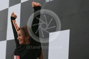 World © Octane Photographic Ltd. 5th February 2016 – Donington Park Racetrack. Suzi Perry launches the 2016 Donington Park Summer Running Festival. Digital Ref : 1500LB1D6671